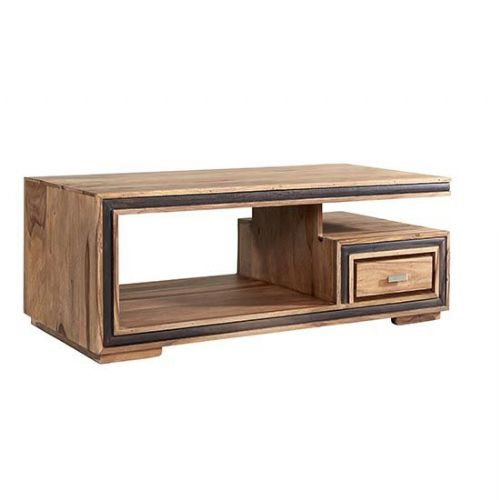 Jaipur Rosewood Coffee Table With Drawer